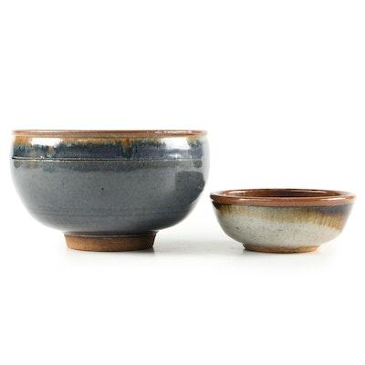 Artisan Earthenware Drip Glaze Bowls