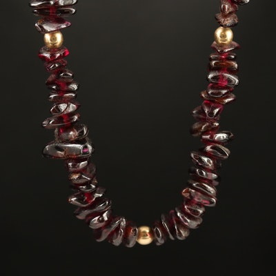 Rhodolite Garnet Beaded Necklace