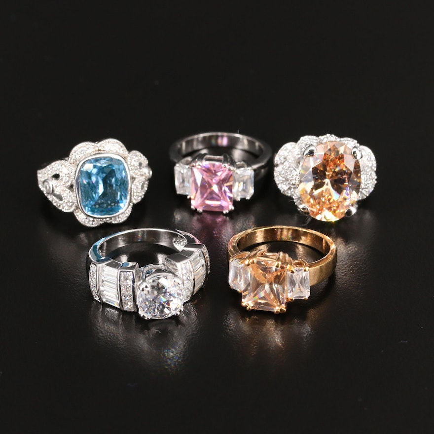 Selection of Rings Including Sterling and Joseph Esposito