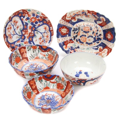 Japanese Hand Painted Imari Porcelain, Mid to Late 19th Century