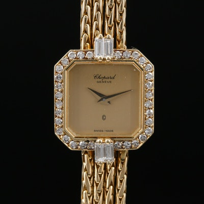 Vintage Chopard Diamond and 18K Gold Quartz Wristwatch