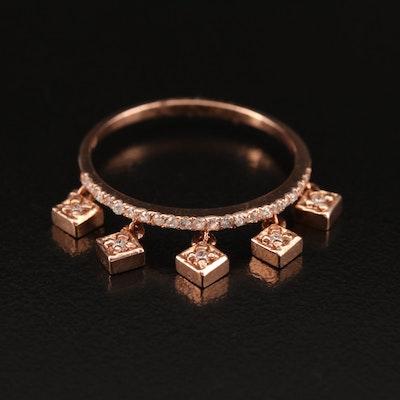 14K Diamond Charm Ring