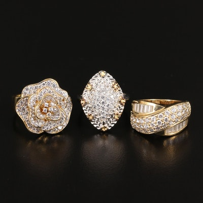 Sterling Silver Cubic Zirconia Ring Selection