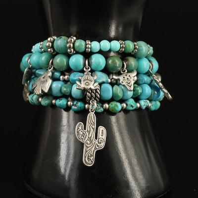 Western Turquoise Beaded Bracelets Featuring Carolyn Pollack for Relios