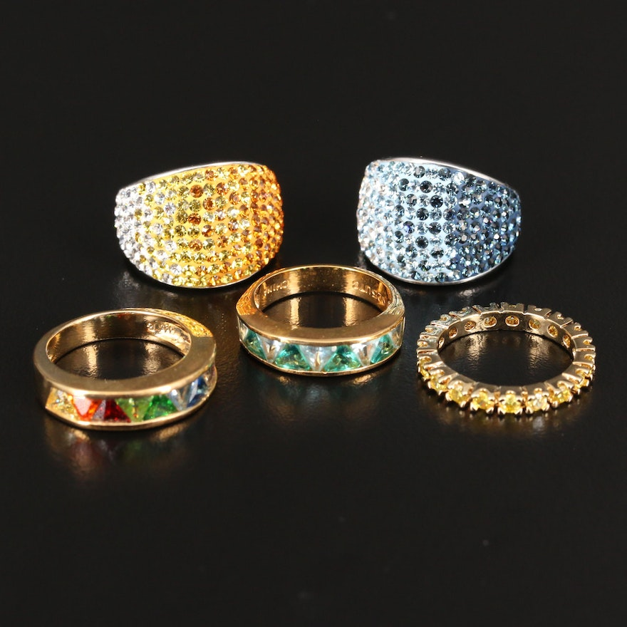 Selection of Sterling Rings with Color Gradient Rings