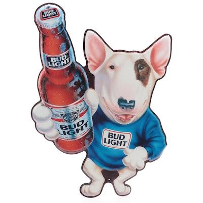 """Anheuser-Busch Bud Light """"Spuds MacKenzie"""" Metal Wall Sign, 1989"""