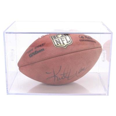 Kurt Warner Autographed Football, Visual COA