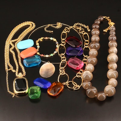 Joan Rivers Jewelry Including Mother of Pearl Necklace