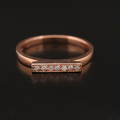 14K Diamond Bar Band