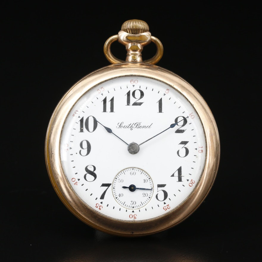 1908 South Bend Gold Filled Pocket Watch