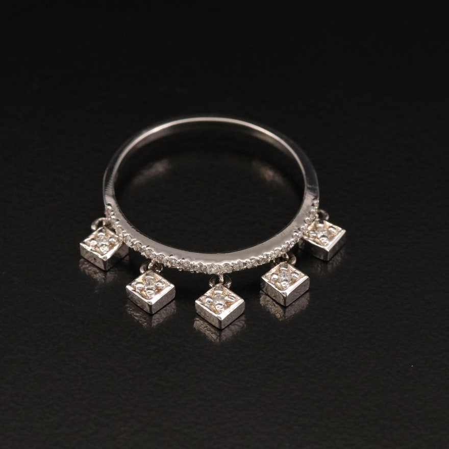 14K Diamond Charm Band