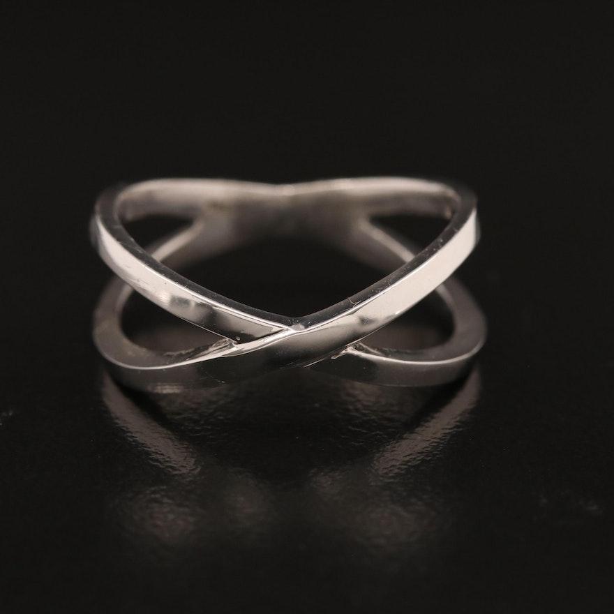 14K Crossover Ring