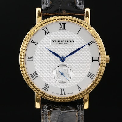 Stuhrling Original 18K Gold Quartz Wristwatch