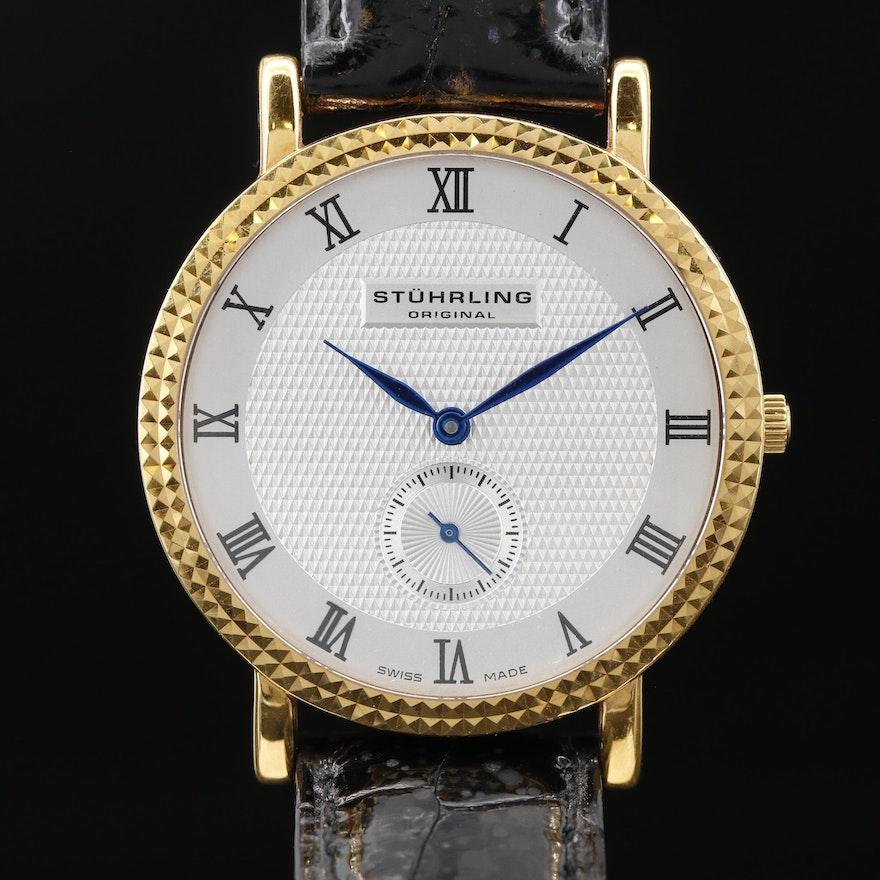Stuhrling Original 18K Gold Quartz Wristwatch
