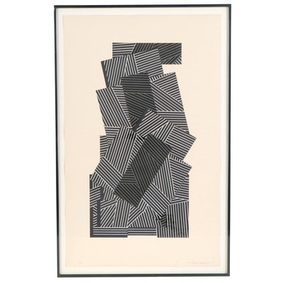 Garo Antreasian Abstract Geometric Serigraph, 1978