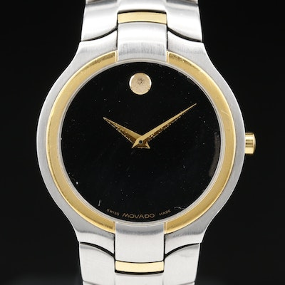 Movado Portico Two Tone Stainless Steel Quartz Wristwatch