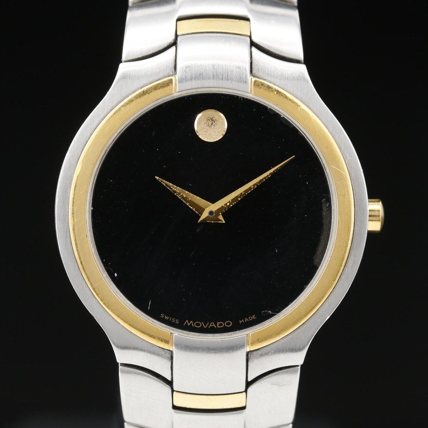 Movado Portico Two Tone Stainless Steel Quartz Wristwatch