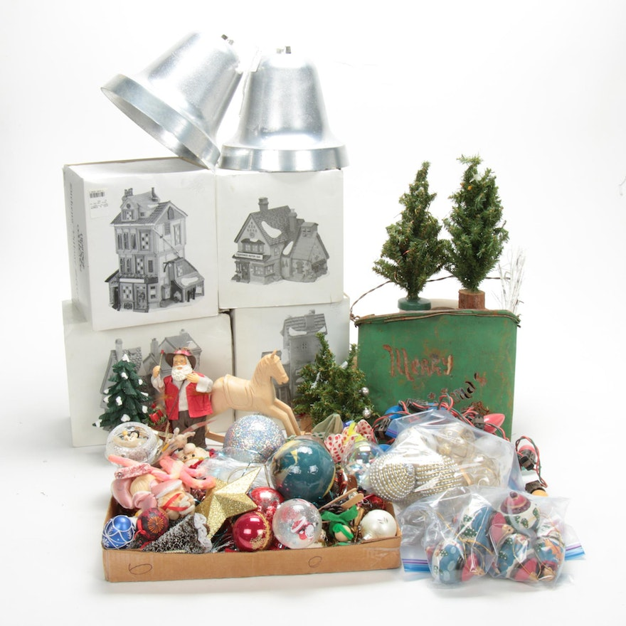Dickens Village Series and Other Vintage Christmas Decorations