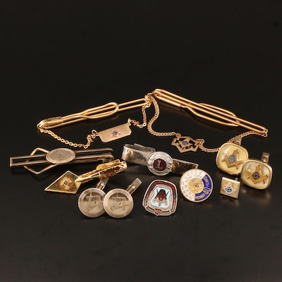 Vintage Service Jewelry Featuring Masonic Pieces