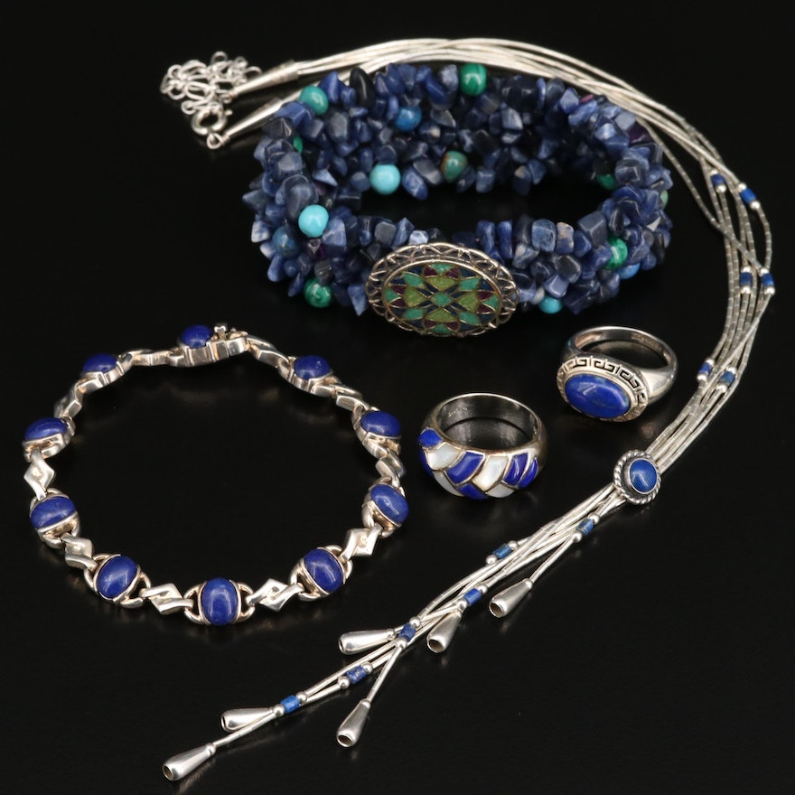 Selection of Sterling Silver Jewelry with Carolyn Pollack For Relios Bracelet