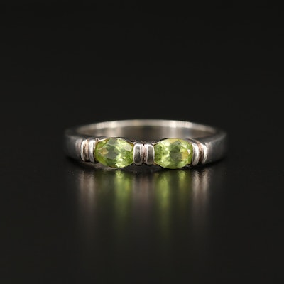 Sterling Silver Peridot Band