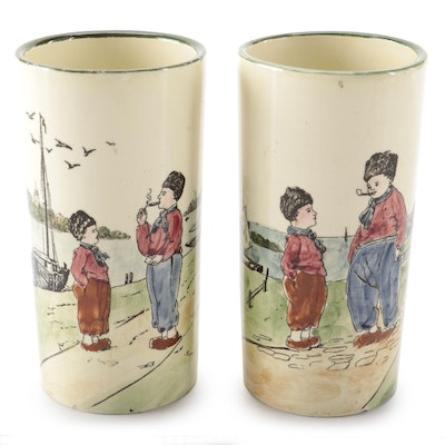 Georg Schmider Zell Earthenware Tumblers, Early 20th Century