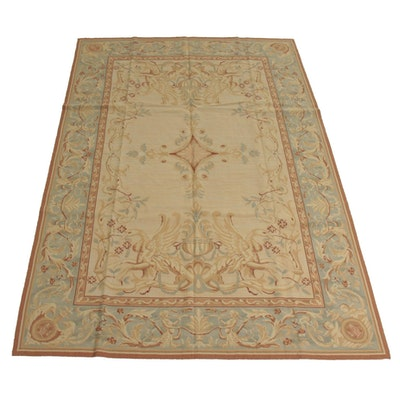 6' x 8'10 Handwoven French Aubusson Style Needlepoint Rug