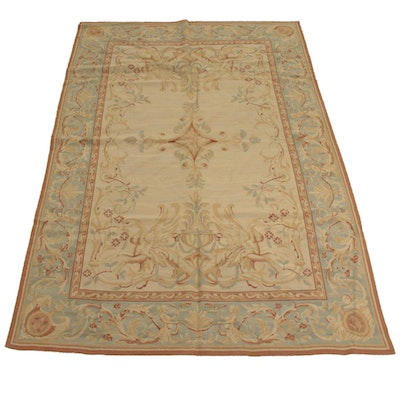 6' x 8'10 Handwoven French Aubusson Style Rug
