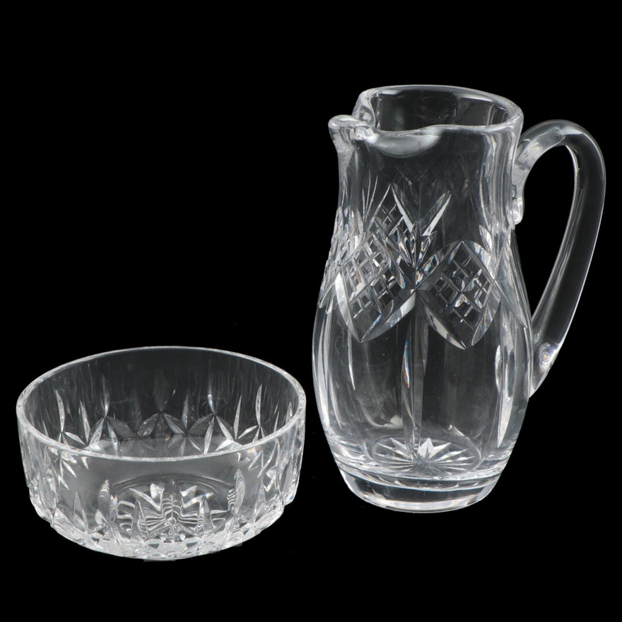 Waterford Cut Crystal Bowl and Pitcher