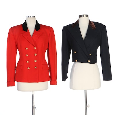 Ralph Lauren Double Breasted Wool Jackets, 1970s Vintage