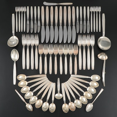"Frantz Hingelberg ""Silver Thread"" Sterling Silver Flatware, Mid-20th Century"