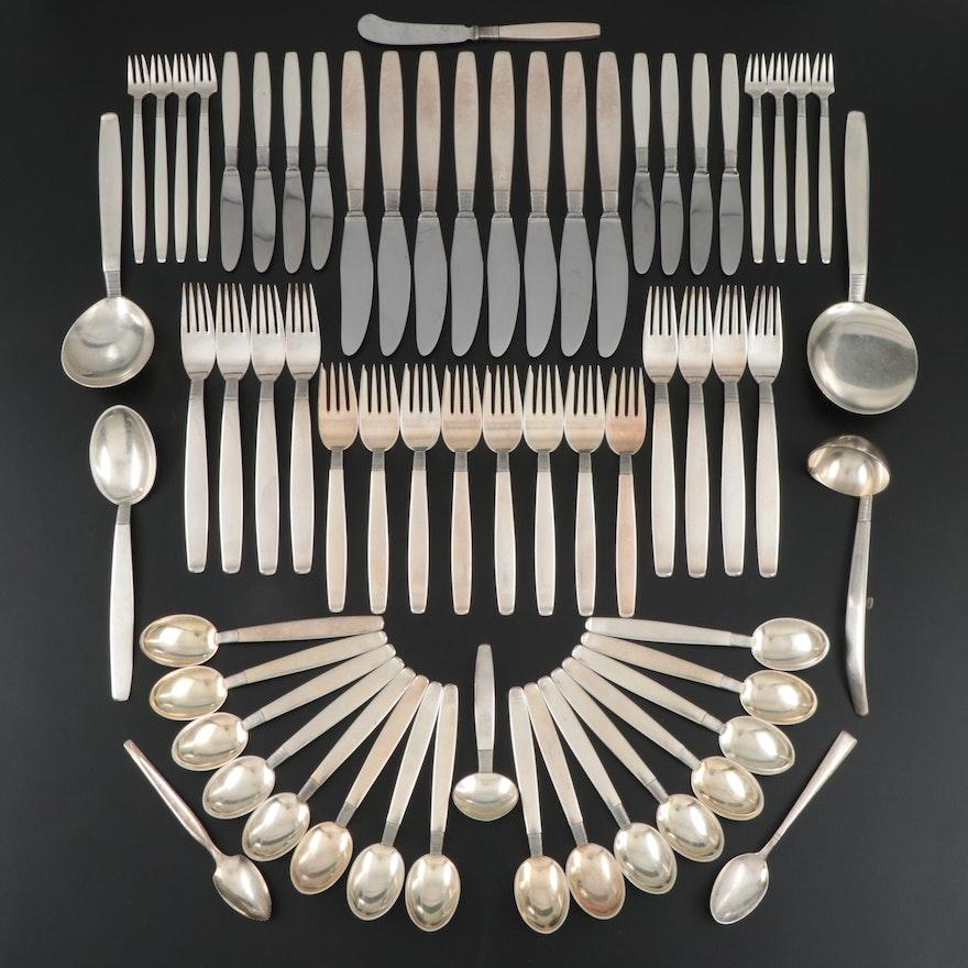 "Frantz Hingelberg ""Silver Thread"" Sterling Silver Flatware, Mid-20th Century"