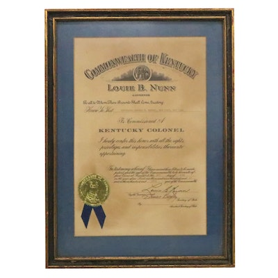 Commonwealth of Kentucky Commission of a Kentucky Colonel, 1968