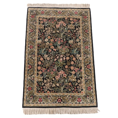 3'1 x 5'6 Hand-Knotted Azhar's Floral Wool Rug