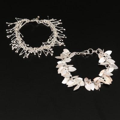 Sterling Silver Fringe Bracelets