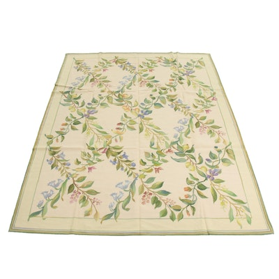 8' x 10' Handmade French Aubusson Style Needlepoint Rug