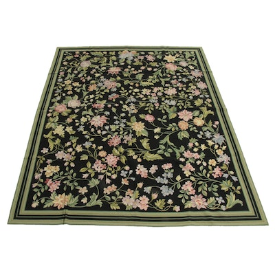 8' x 10' Handmade Sino-French Aubusson Style Rug