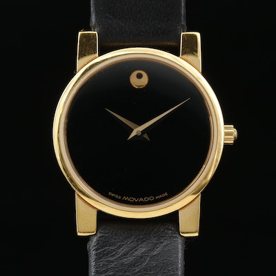 Movado Museum Gold Tone Quartz Wristwatch