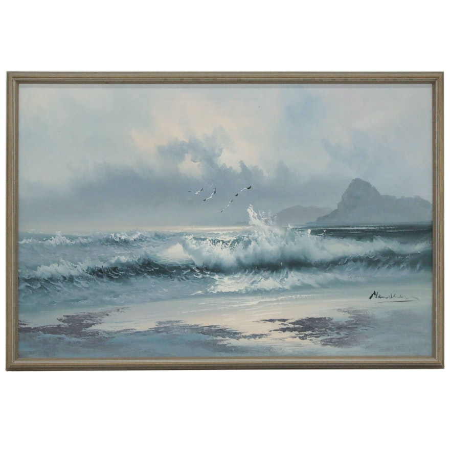 Oil Painting of the Sea, 21st Century