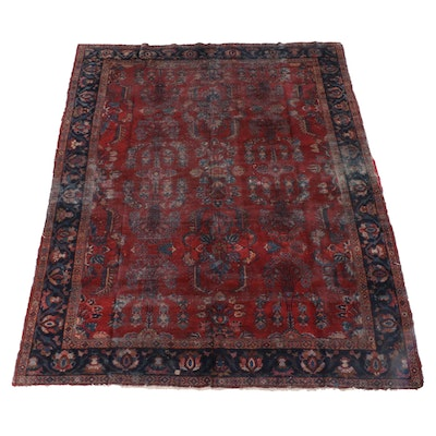 8'8 x 11'4 Hand-Knotted Persian Sarouk Wool Rug
