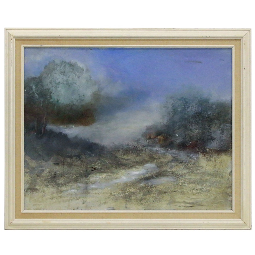Ruby Stone Markham Landscape Oil Painting, Mid 20th Century
