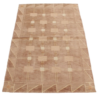 5'1 x 7'7 Handwoven Safavieh Tibetan Wool Area Rug