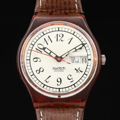 1995 Swatch Grasser Baer Plastic Quartz Wristwatch