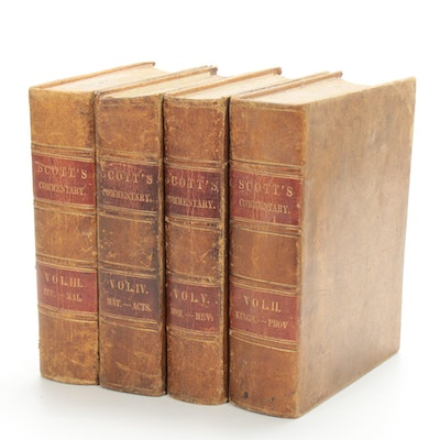 """Scott's Commentary"" on the Holy Bible Volumes II–V, 1846"