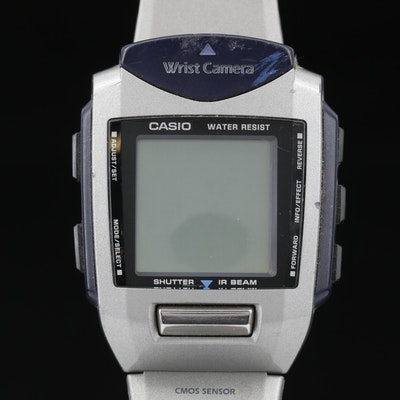 Retro Casio Wrist Camera Multi Function Quartz Wristwatch