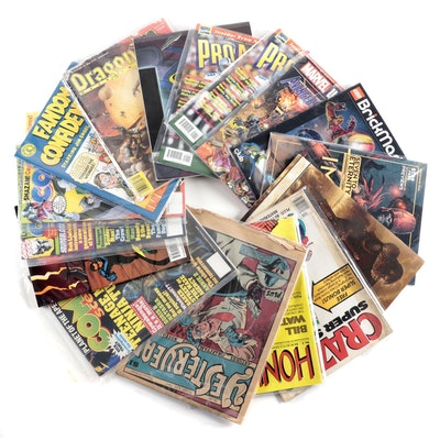 """""""Comics Scene,"""" """"Pro Action,"""" """"Space Ghost,"""" Other Comics and Magazine"""