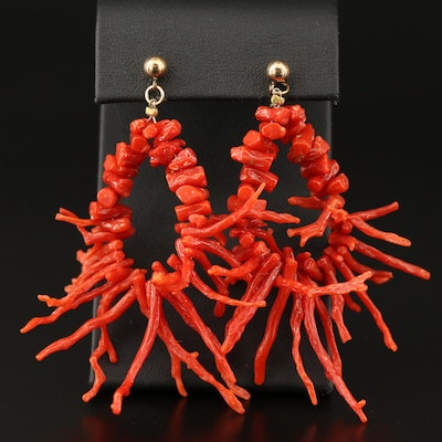 Branch Coral Earrings