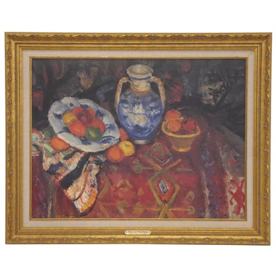 "Offset Lithograph after Charles Camoin ""Citrus with Blue Pottery"", 20th Century"