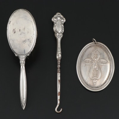 Webster Sterling Silver Brush and Button Hook and Towle Holiday Ornament