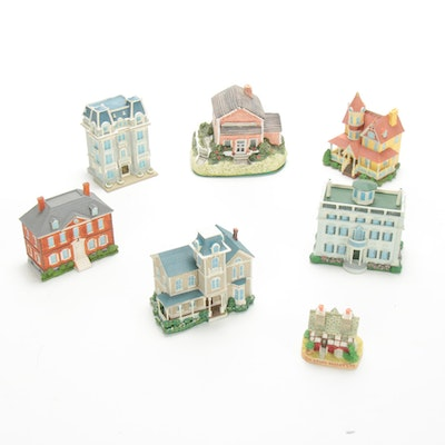 Franklin Mint Architectural Style and Other Miniature Houses